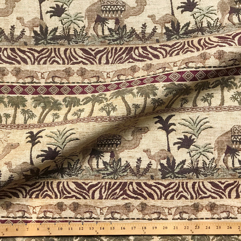 European Jacquard Camel Upholstery Fabric 52""