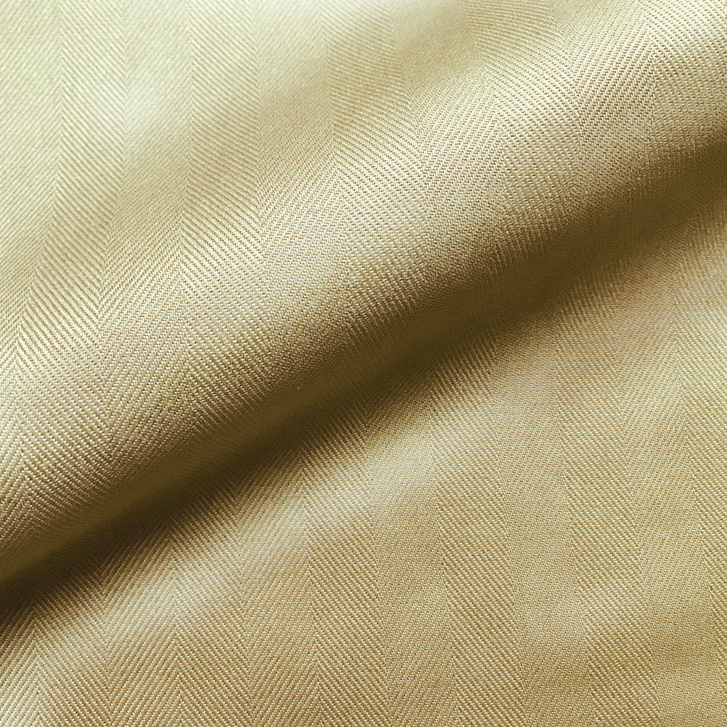 Khaki Menswear Library Chevron Cotton Upholstery Fabric 54""