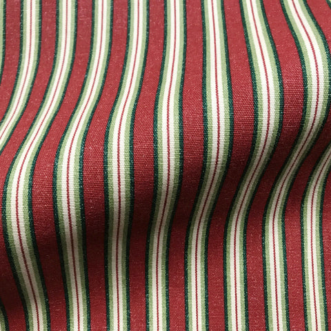 Scarlet Country Stripe Canvas Upholstery Fabric 54""