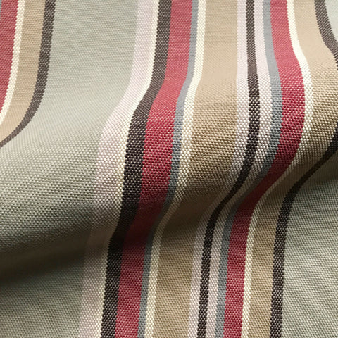 Wheat Country Stripe Canvas Upholstery Fabric 54""