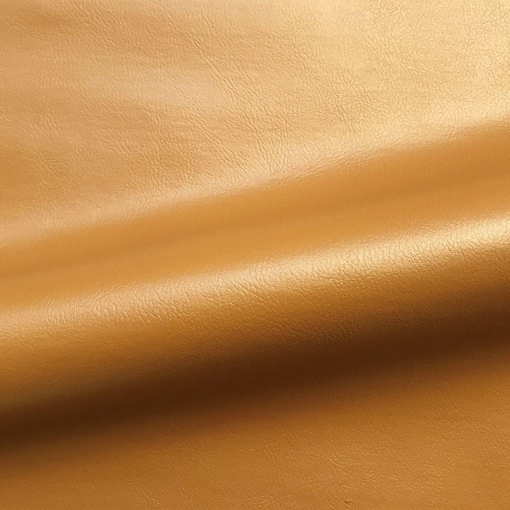Copper Contemporary Solid Faux Leather Upholstery Fabric 54""
