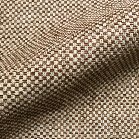 Wheat Retro Check Woven Upholstery Fabric 54""