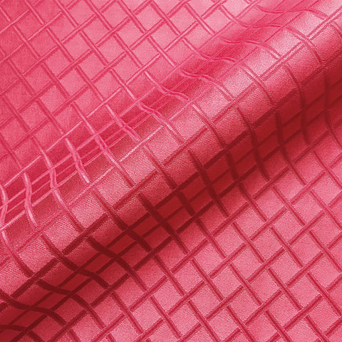 Red Traditional Trellis Jacquard Upholstery Fabric 54""