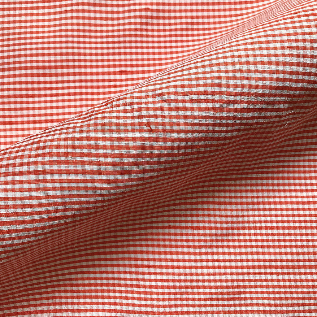 100% Cotton Orange Country Gingham Cotton Fabric 42""