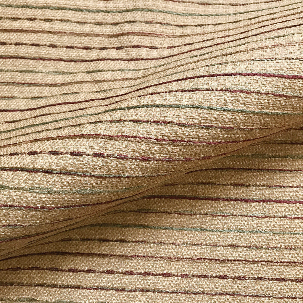 Wheat French Country Pinstripe Boucle Upholstery Fabric 54""