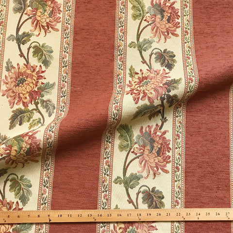 Multicolored American Decor Floral Jacquard Upholstery Fabric 54""