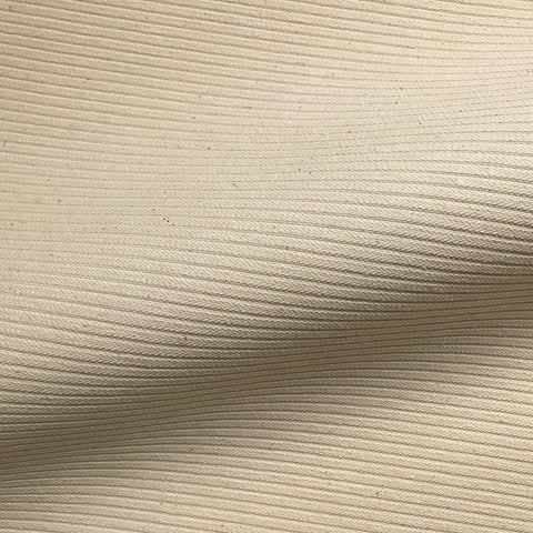Beige Mid Century Pinstripe Cotton Upholstery Fabric 54""