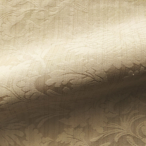 Cream Gold Traditional French Damask Jacquard Upholstery Fabric 58""
