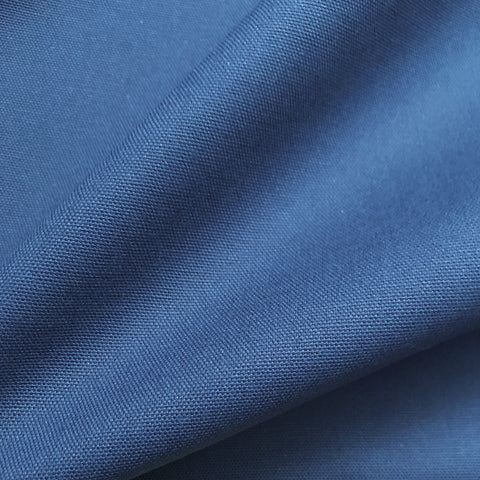 Ocean Coastal Blue Solid Cotton Upholstery Fabric