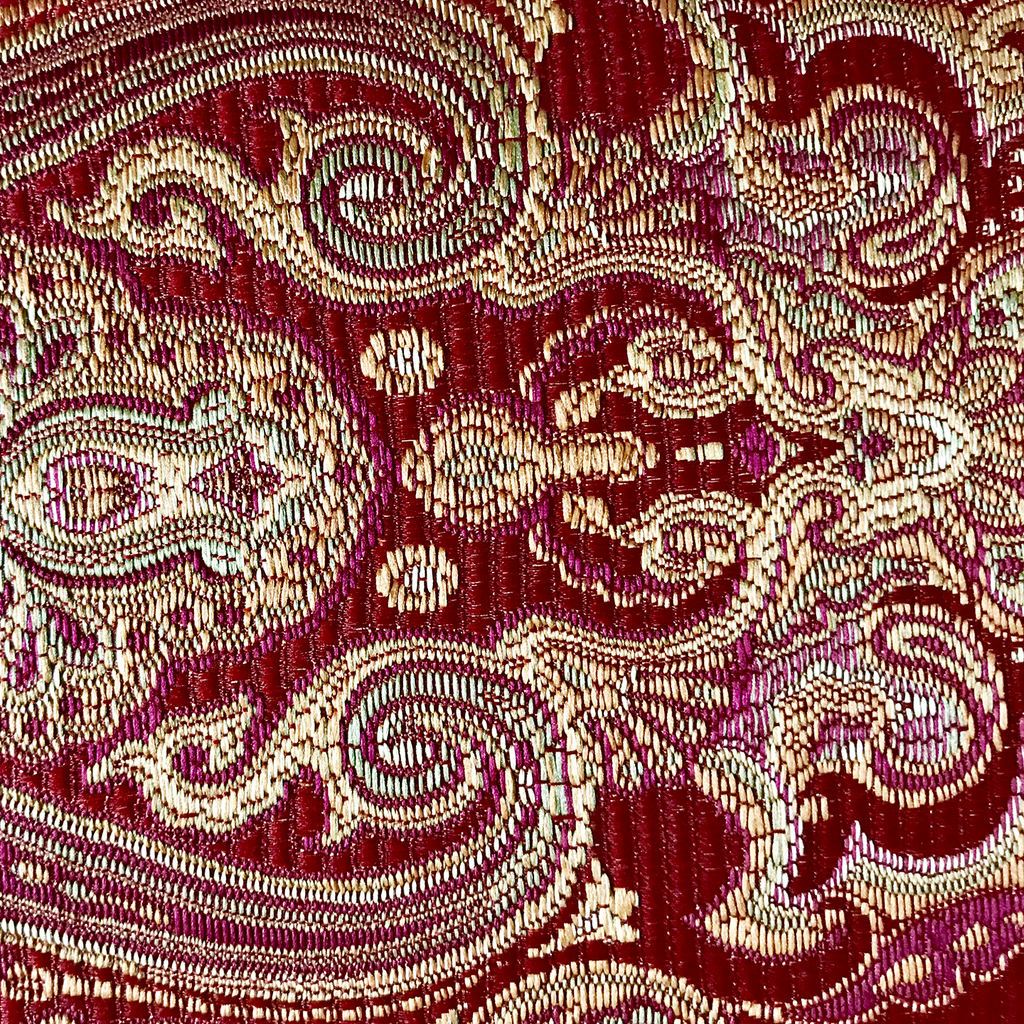 Rich Red Gold Brocade Upholstery Fabric Plankroad Home Decor