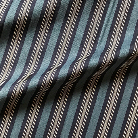 Blue and White Striped Upholstery Fabric