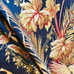 Brown Tropical Leaf Upholstery Fabric