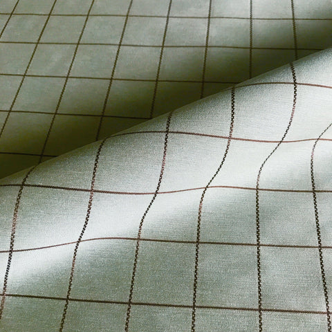 Sage Green Window Pane Check Fabric