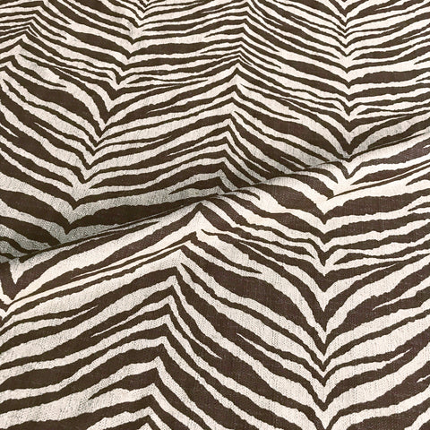 Brown Zebra Print Upholstery Fabric