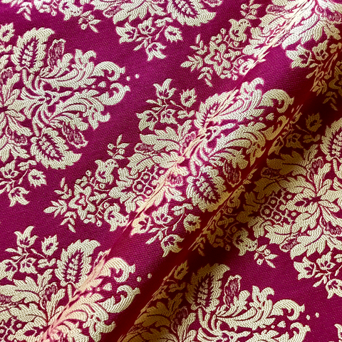 Garnet Gold Regal Victorian Style Damask Upholstery Fabric