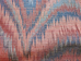 Coral Indigo Contemporary Ikat Inspired Fabric