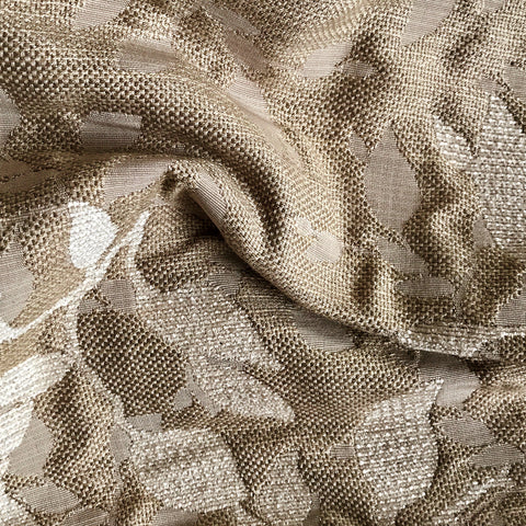Cream Ivory Woven Floral Upholstery Fabric