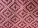 Red Gold Diamond Dot Jacquard Upholstery Fabric