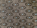 Brown with Light Blue Oval Geometric Upholstery Fabric