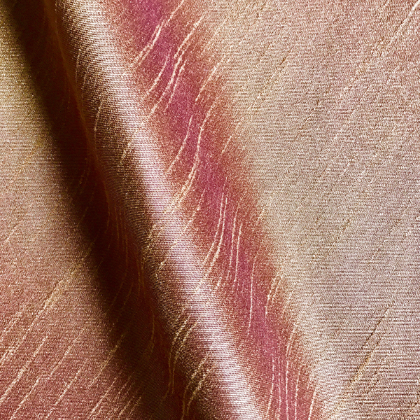 Rust Shantung Silk Blend Fabric