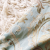 Blue Gold Brocade Jacquard Upholstery Fabric