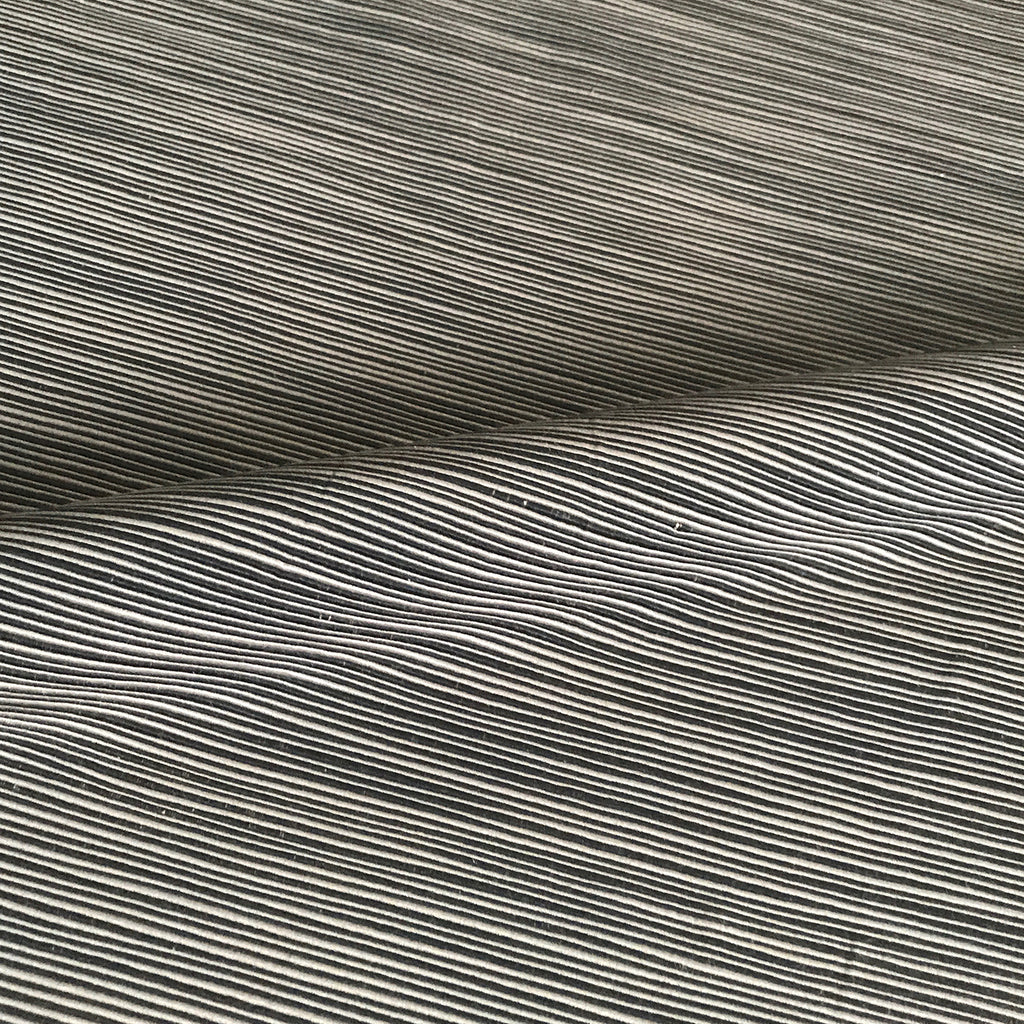 Taupe Navy Ottoman Weave Upholstery Fabric
