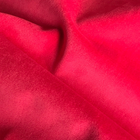 Red Velvet Upholstery Fabric