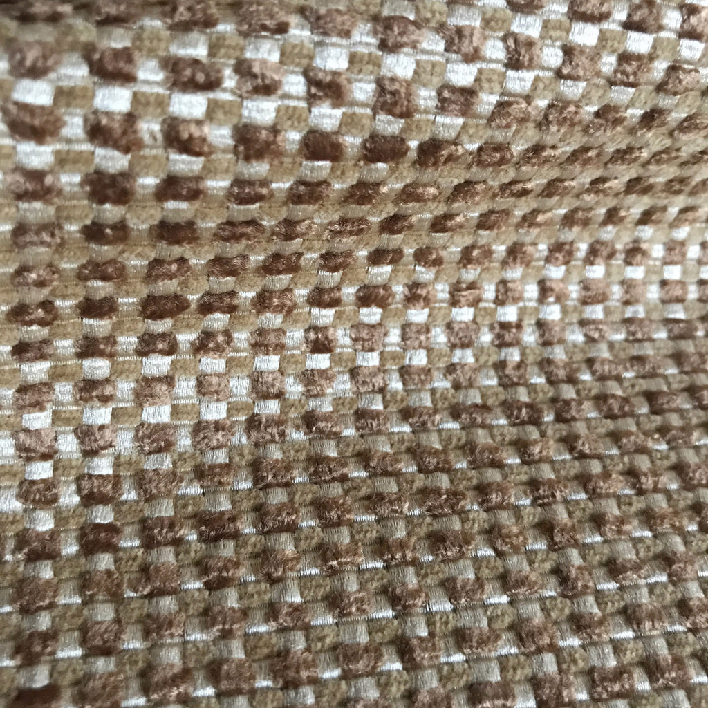 Taupe Textured Woven Upholstery Fabric - 54""