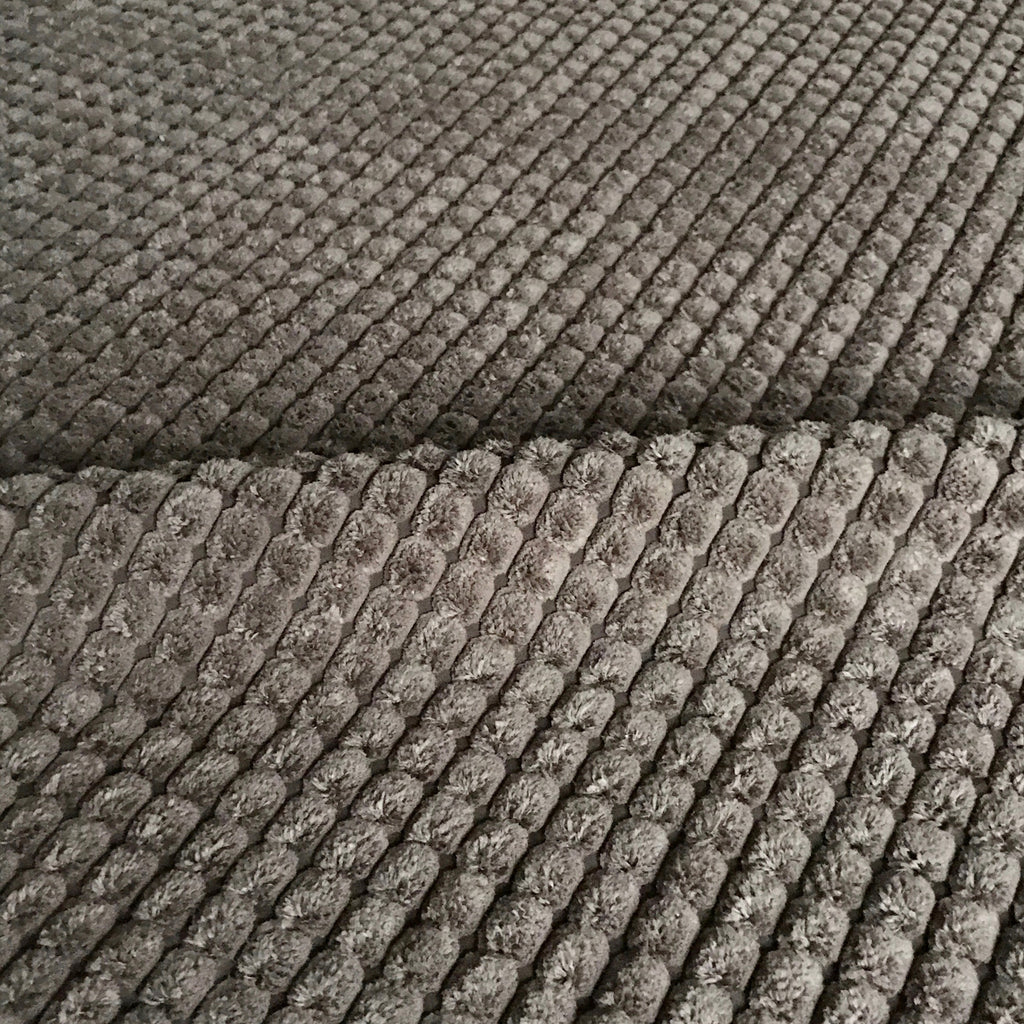 Brown Channel Chenille Upholstery Fabric - 54""
