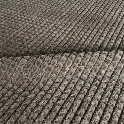 Brown Channel Chenille Upholstery Fabric