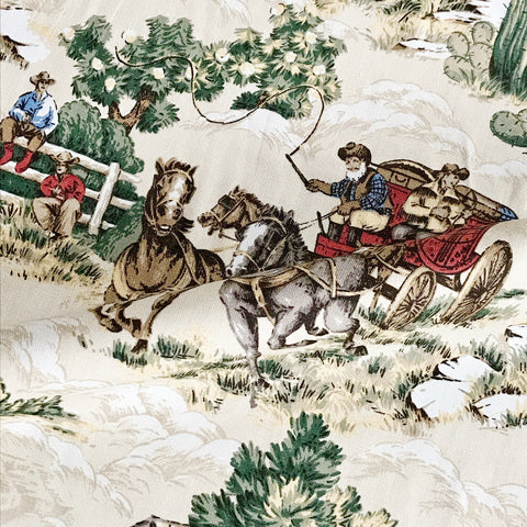 Cowboy Novelty Upholstery Fabric
