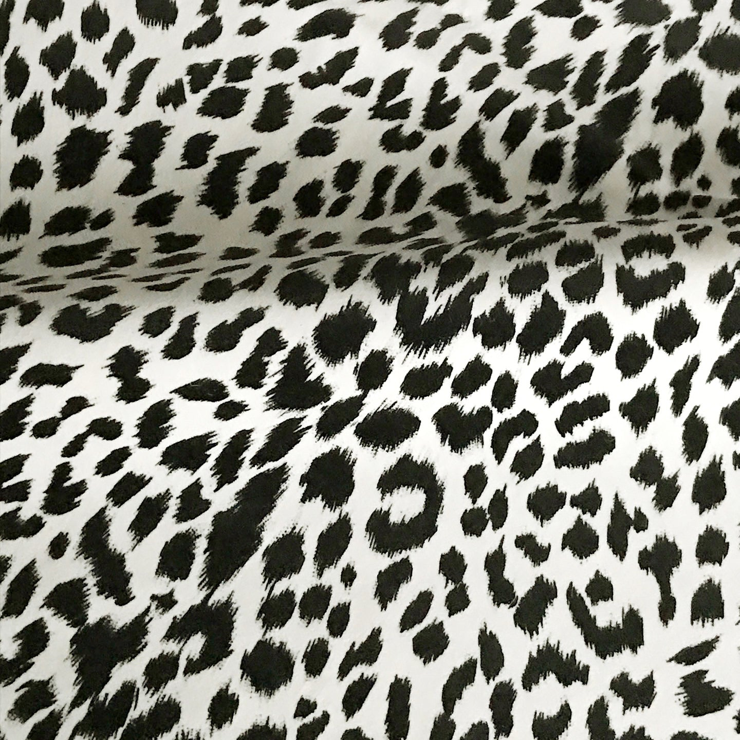 Cheetah Print Black White Velvet Upholstery Fabric