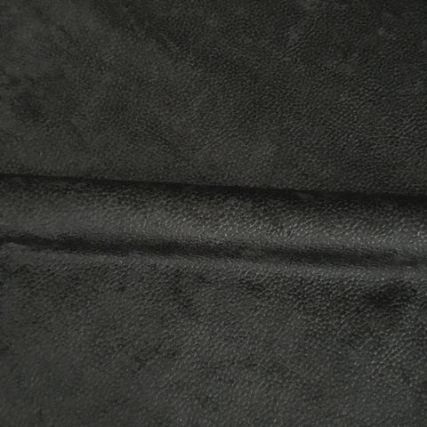 Black Velvet Dobby Dot Luxury Upholstery Fabric