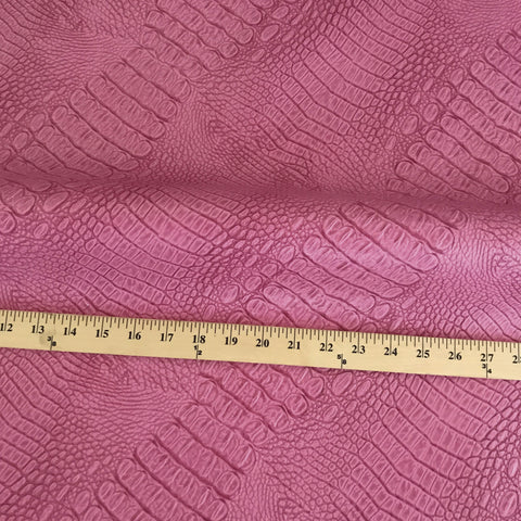 Hot Pink Faux Alligator Skin Luxury Upholstery Fabric
