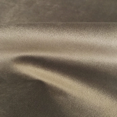 Metallic Taupe Luxury Woven Velvet Upholstery Fabric