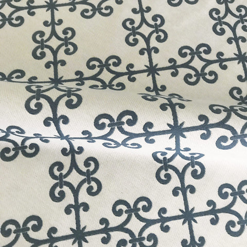 Jade French Trellis Luxury Upholstery Fabric