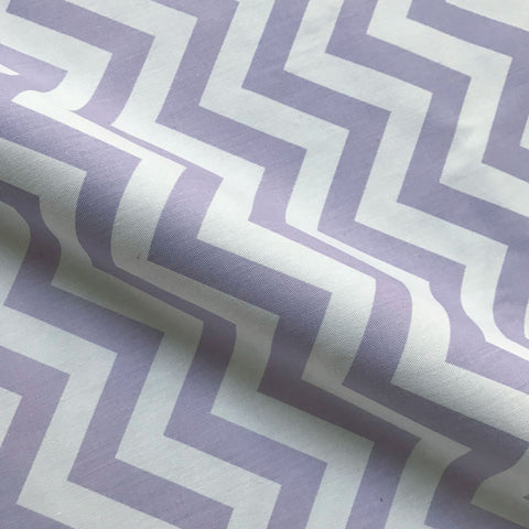 Lilac Girls Chevron Cotton Upholstery Fabric 54""