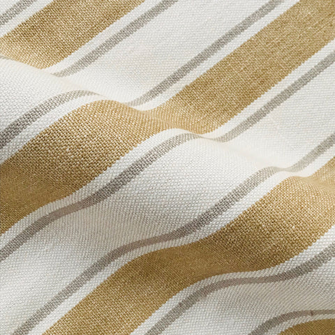 Tan Farmhouse Stripe Cotton Upholstery Fabric 54""