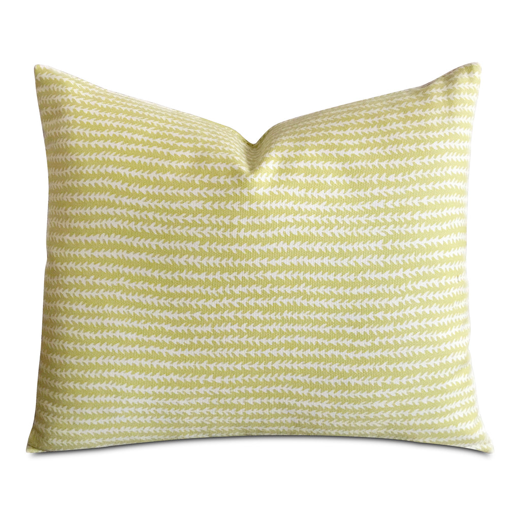 "15""x 18"" Lime Green Eclectic Rustic Stripe Luxury Decorative Pillow Cover"
