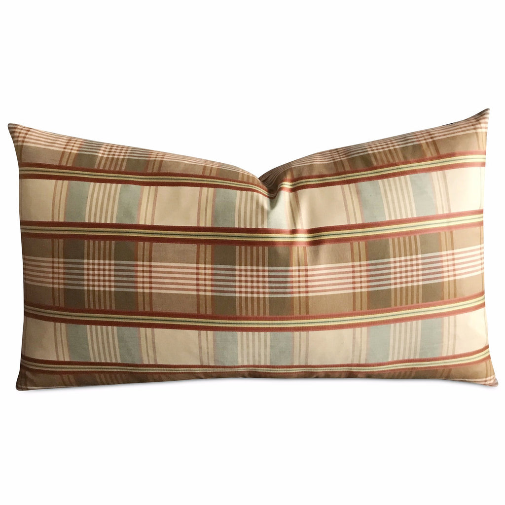 "15""x 26"" Oxford Plaid Luxury Woven Decorative Pillow Cover"