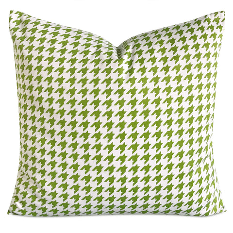 "22""x 22"" Lime Green Houndstooth Decorative Pillow Cover"