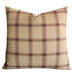 "22""x 22"" Purple Large  English Country Plaid Luxury Woven Decorative Pillow Cover"