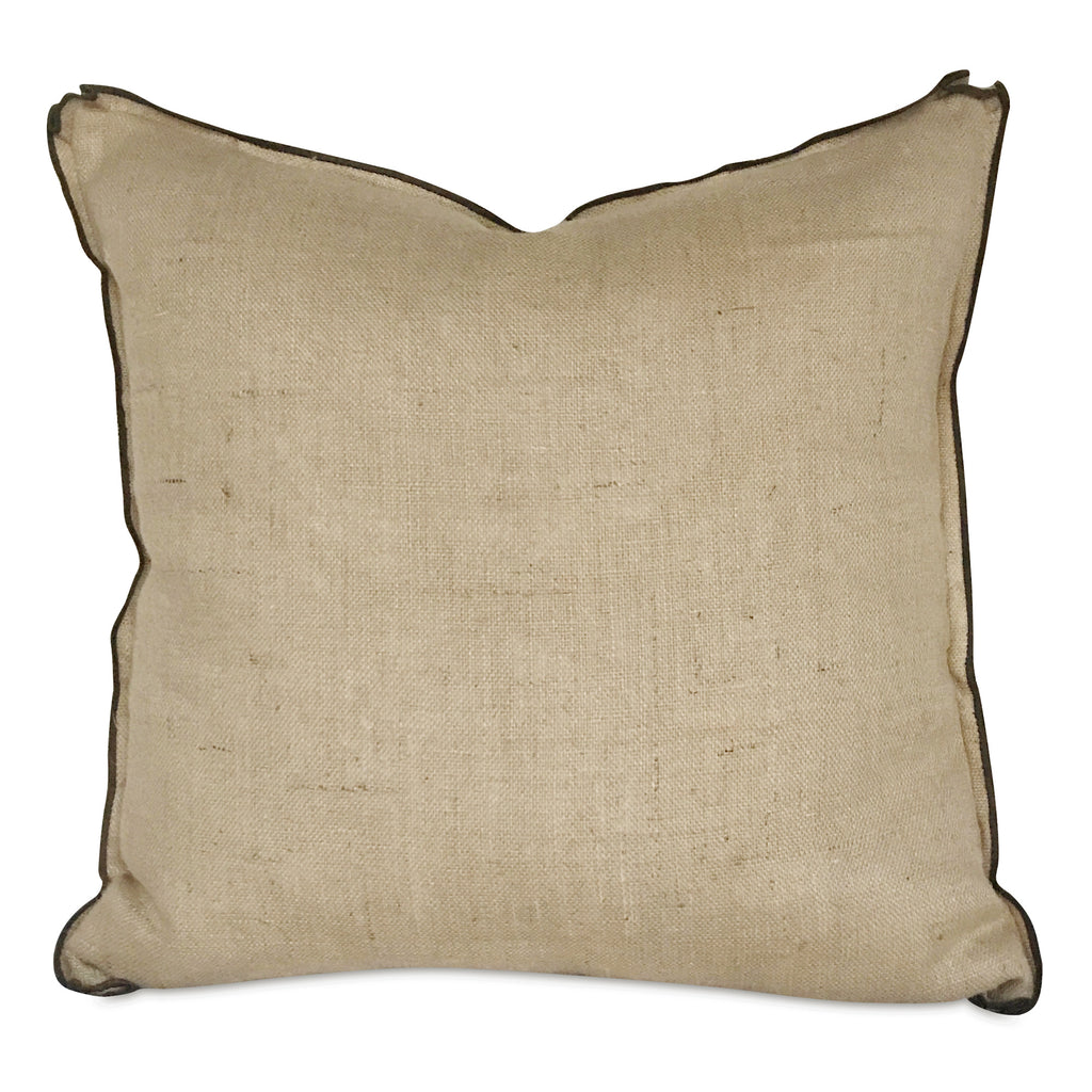 "26""x 26"" French Country Wheat Burlap Decorative Pillow Cover / Euro Sham"