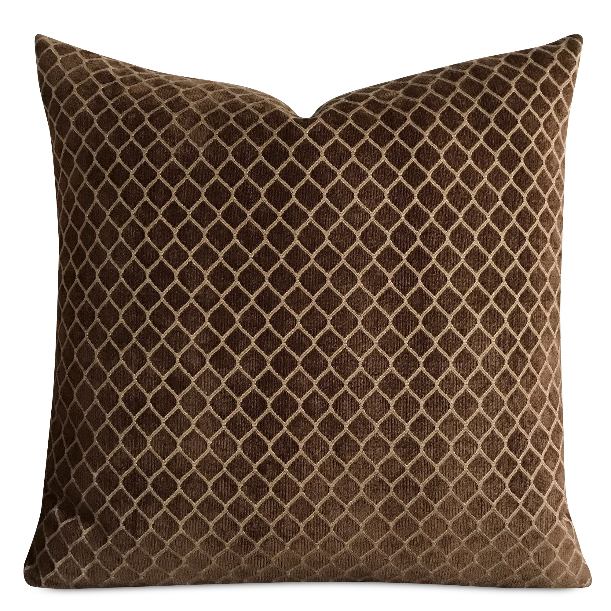 "18""x 18"" Brown Gold Corduroy Luxury Woven Decorative Pillow Cover ..."