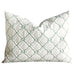 "20"" x 26"" White Green Geometric Matelasse Quilted Luxury Standard Sham Cover"