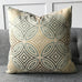 "20"" x 20"" Metallic Geometric Luxury Woven Decorative Pillow Cover"