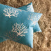 "15"" x 26"" Turquoise Tropical Island Coral Print Decorative Pillow Cover"