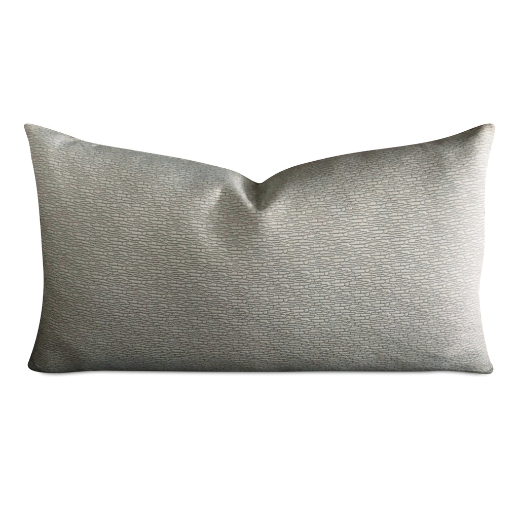 "15"" x 26"" Silver Textured Luxury Decorative Pillow Cover"