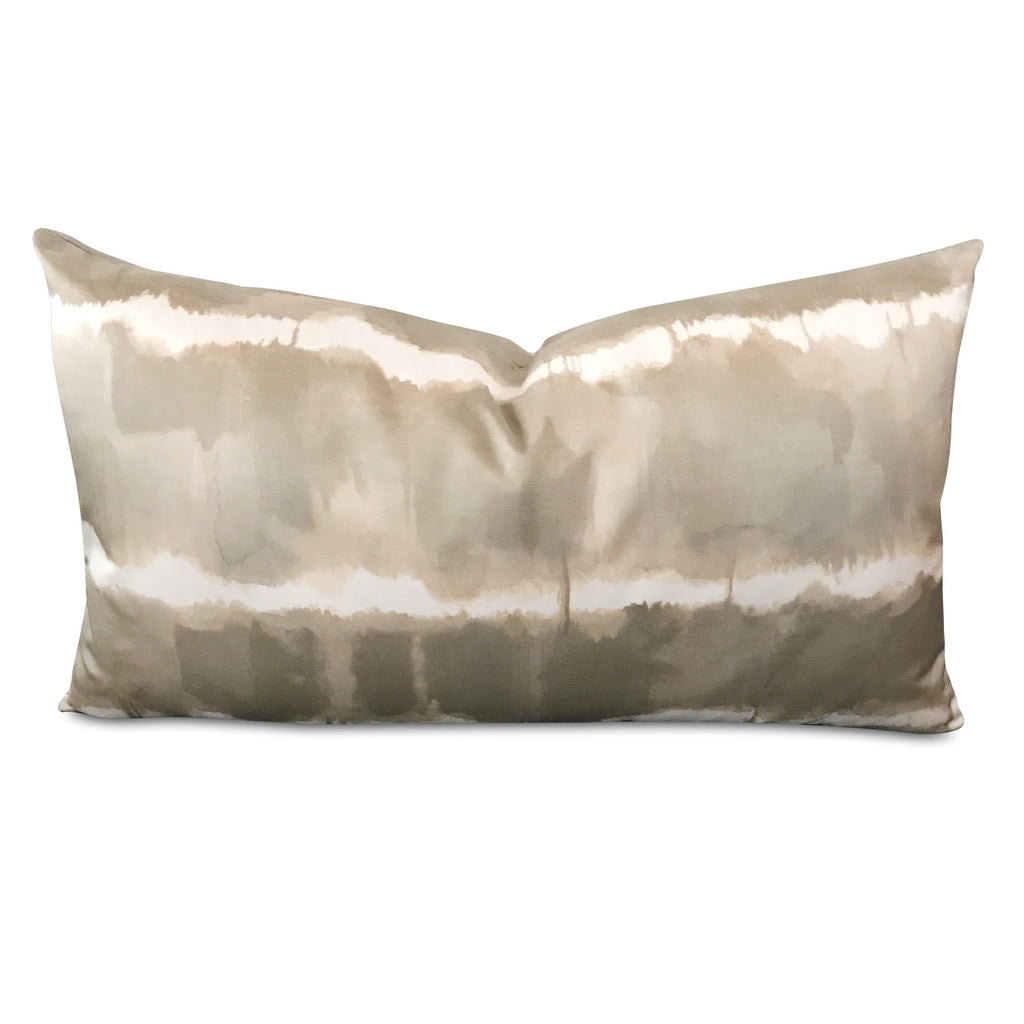 "15"" x 26"" Silk Sage Green Color Splash Luxury Decorative Pillow Cover"