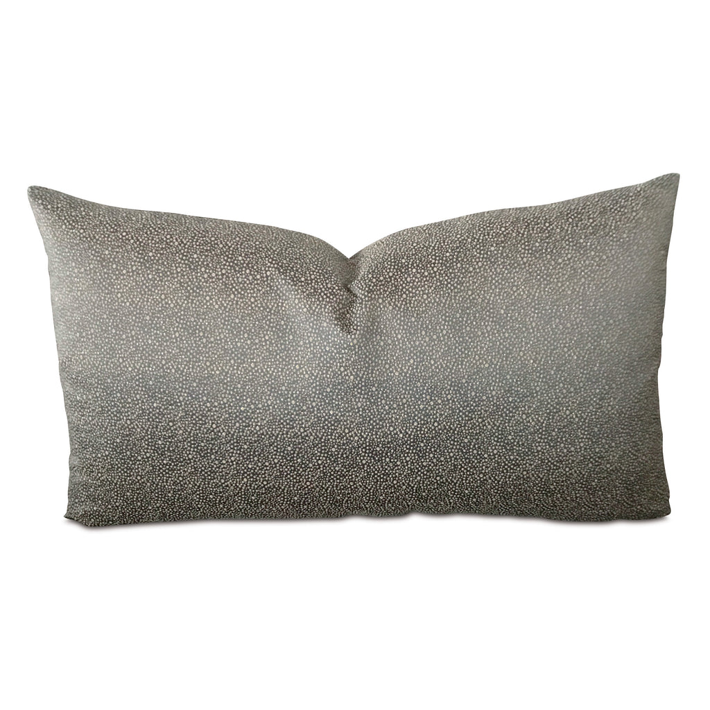 "15"" x 26"" Metallic Silk Blue Dot Woven Decorative Pillow Cover"